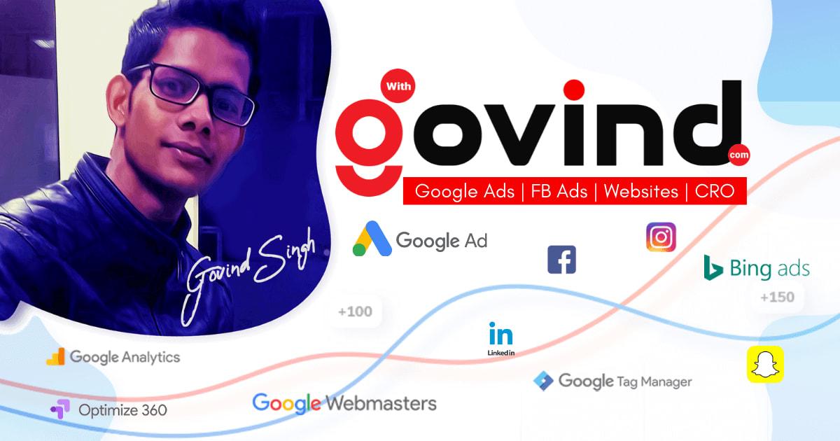 Google Ads Manager in Delhi - Govind Singh