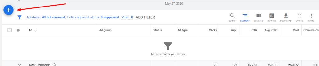 Create Google's Call Ads Step 1