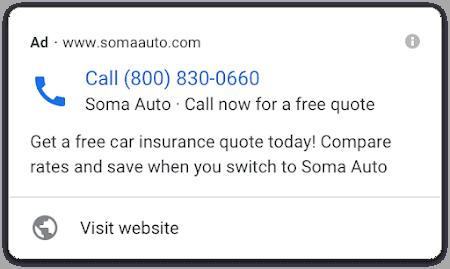 Create Call Ads in Google
