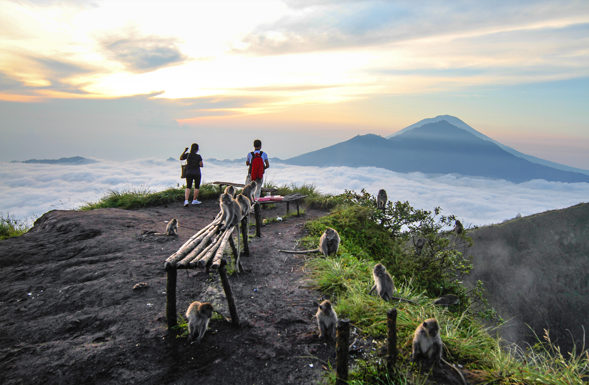 Volcanoes Bali Bali Active Volcano Sunrise