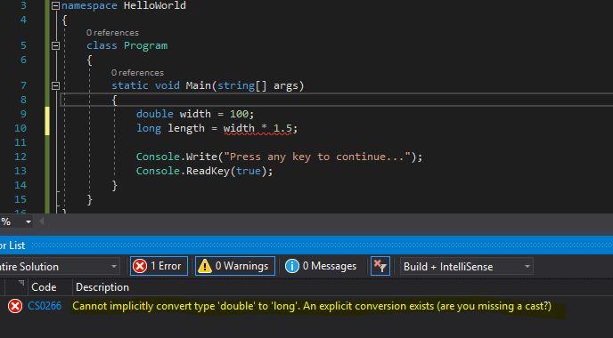 C# implicit type casting error