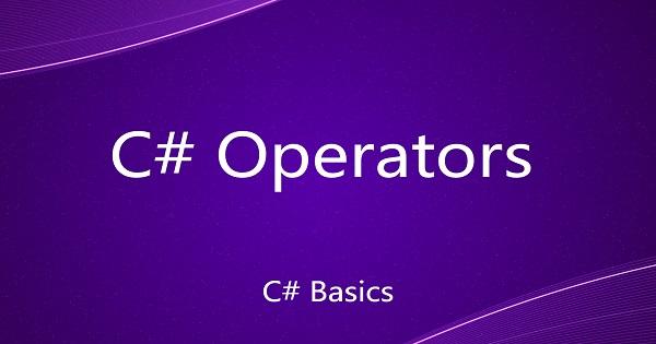 Operators in C#