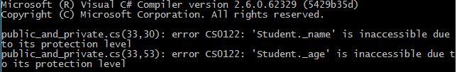 C# access modifer accessibility error