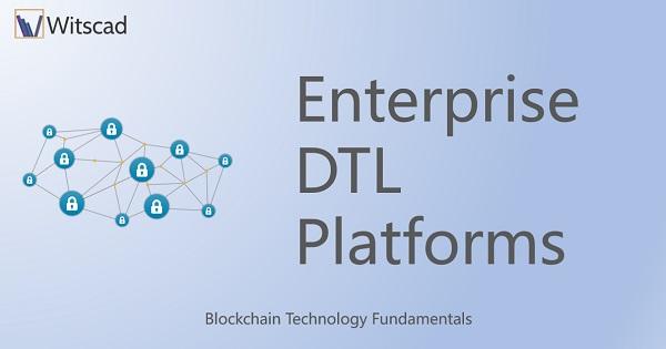 Enterprise Distributed Ledger Technology Platforms