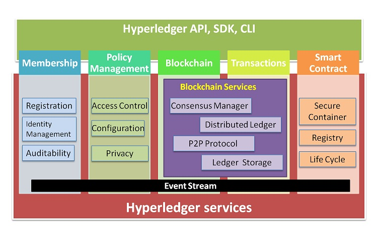Hypeledger Fabric Services and Interface