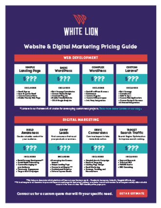 White Lion Website and Digital Marketing Pricing Guide thumbnail