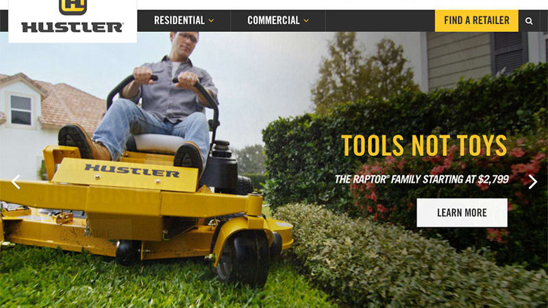 Riding High: A new website for Hustler Turf Mowers