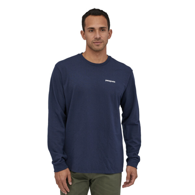 Patagonia-Long-Sleeve P-6 Logo Responsibili-Tee - Men's