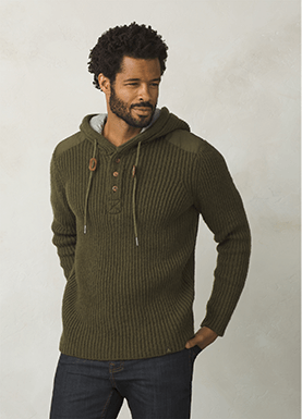 prAna-Hooded Henley Sweater - Men's