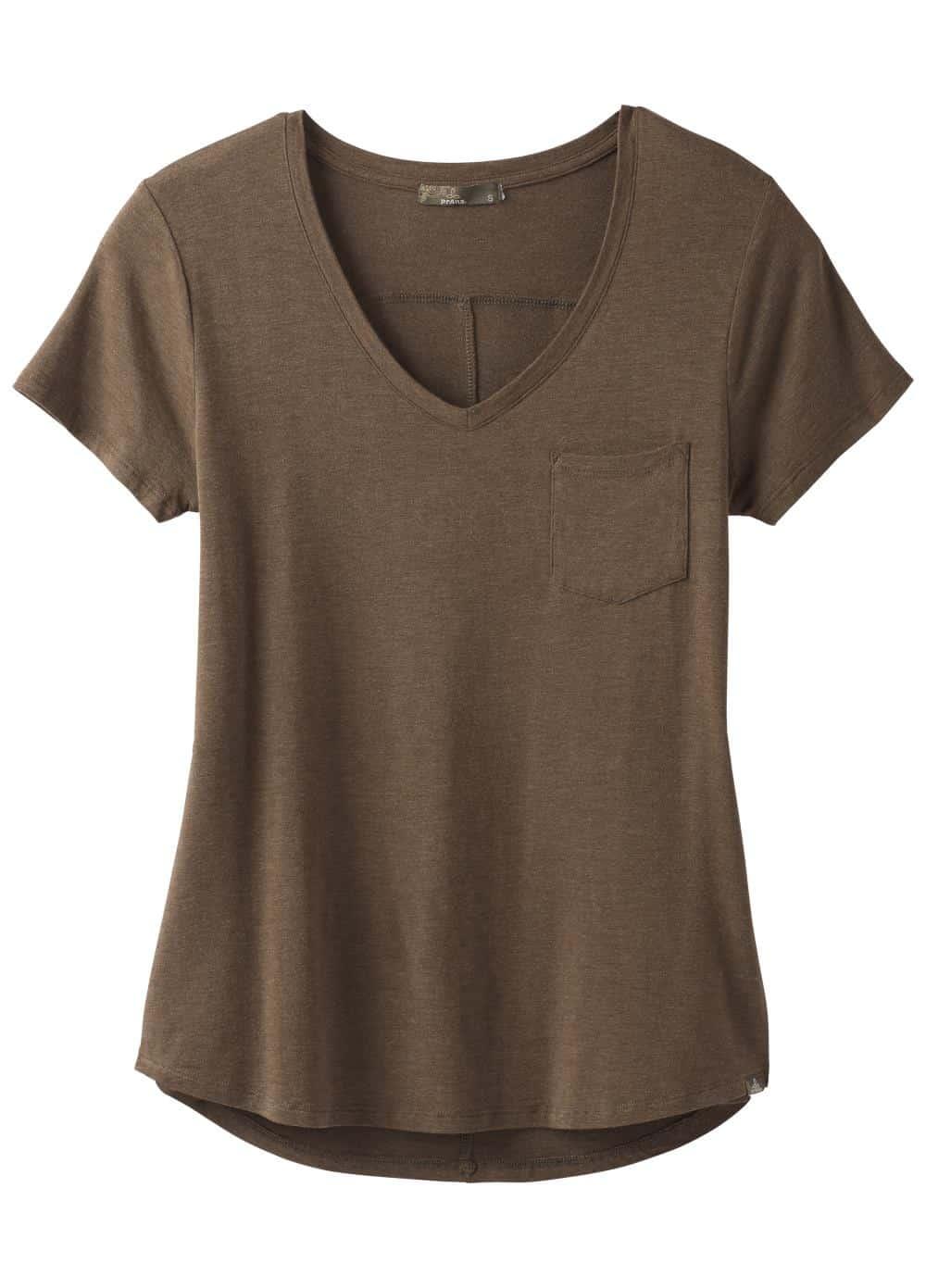 prAna-Foundation Short-Sleeve V Neck Top - Women's