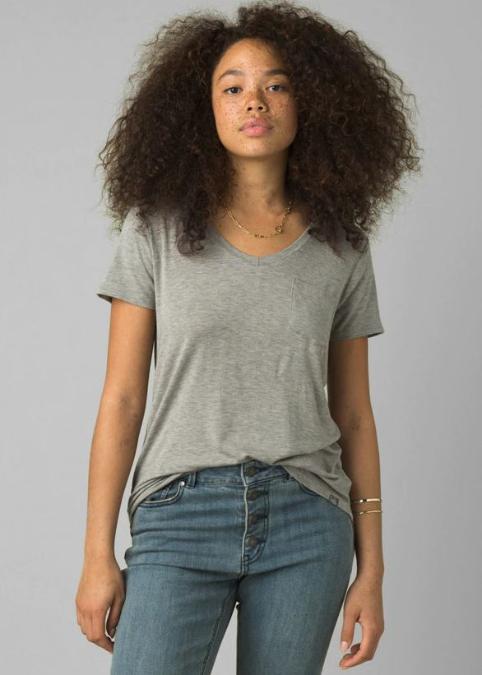 prAna-Foundation Short Sleeve V Neck Top - Women's