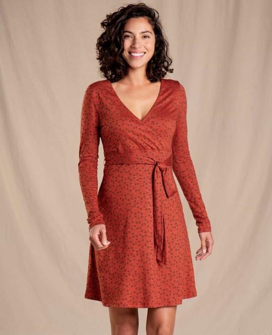 Toad & Co-Cue Wrap Long-Sleeve Dress - Women's