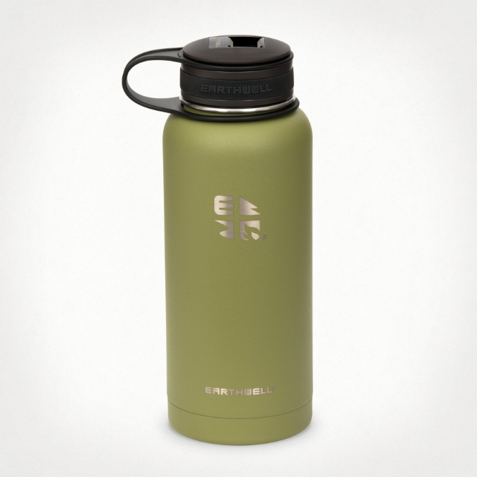 Earthwell-Kewler Opener Cap Wide Mouth Vacuum Insulated Bottle - 32 oz