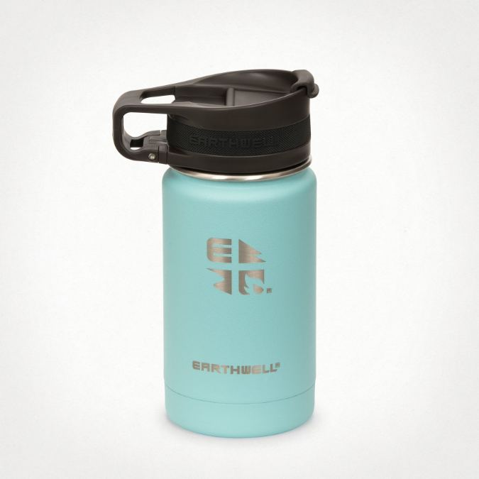 Earthwell-Roaster Loop Cap Wide Mouth Vacuum Insulated Bottle - 12 oz
