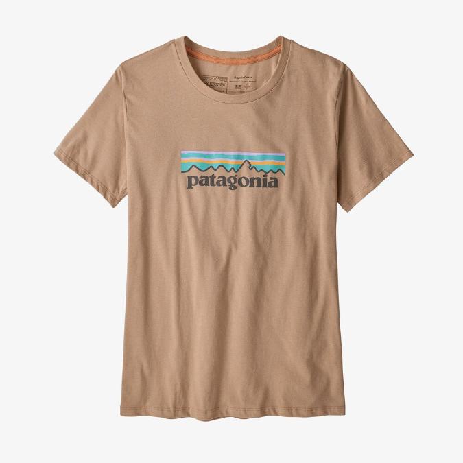 Patagonia-Pastel P-6 Logo Organic Crew T-Shirt - Women's