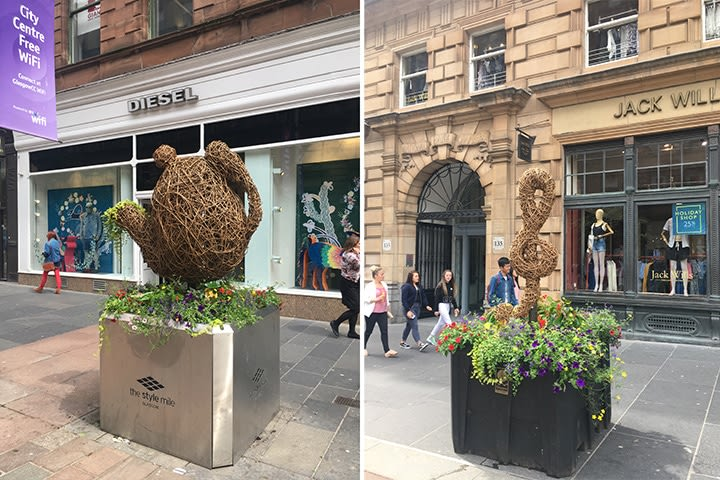 teapot and note planters, glasgow