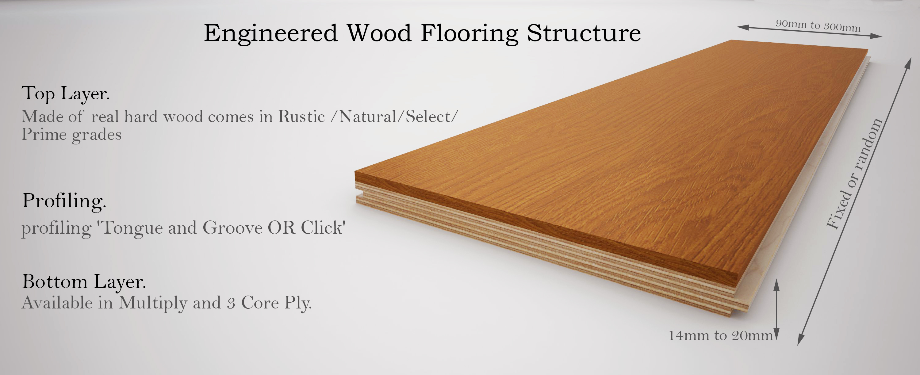 engineered wood flooring thickness and width