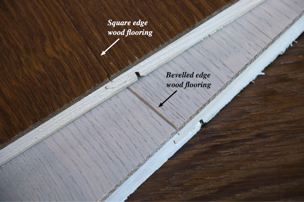 Square or bevelled edge wood flooring and beyond