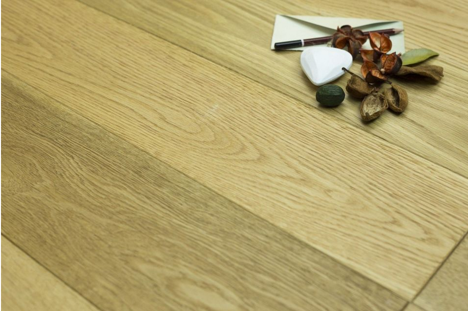Brushed wood flooring