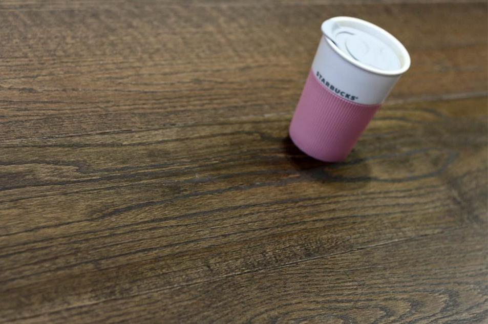 Natural engineered flooring oak click coffee distressed UV oiled