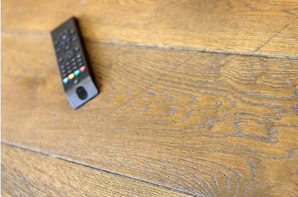 Natural engineered oak reclaim brown UV oiled flooring