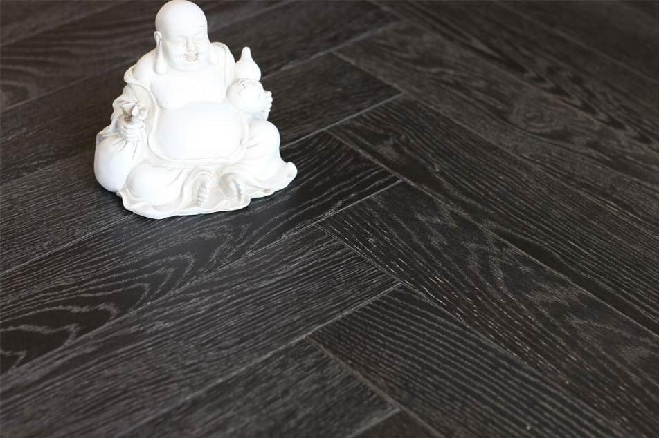 Dark Herringbone Timber Floor