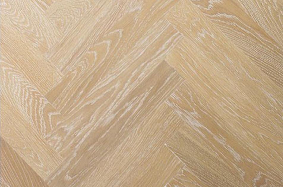 White Herringbone Timber Floor