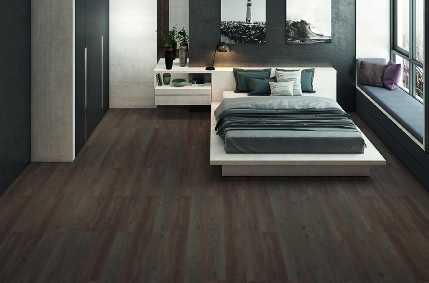 dark shade floorboards