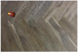 Grey Chevron and Herringbone Hardwood Flooring in Stock