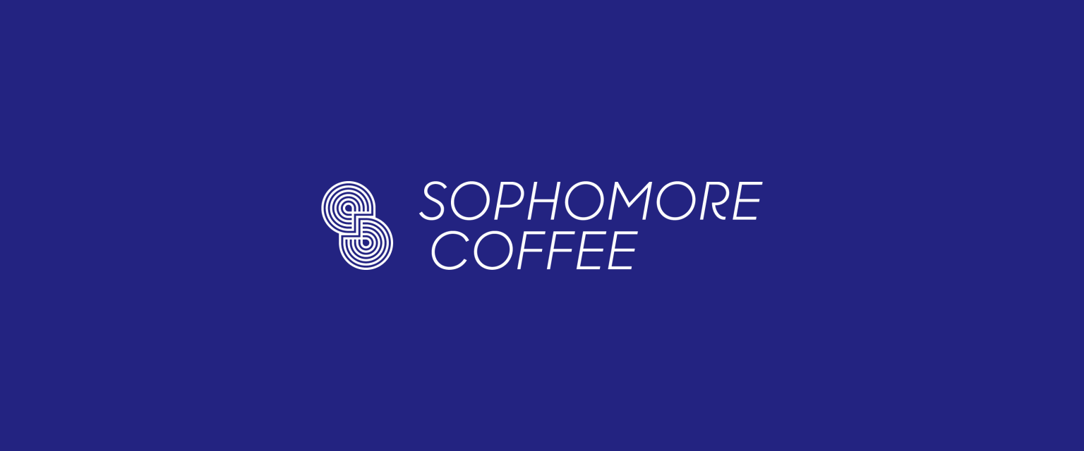 Visual identity for Sophomore Coffee.