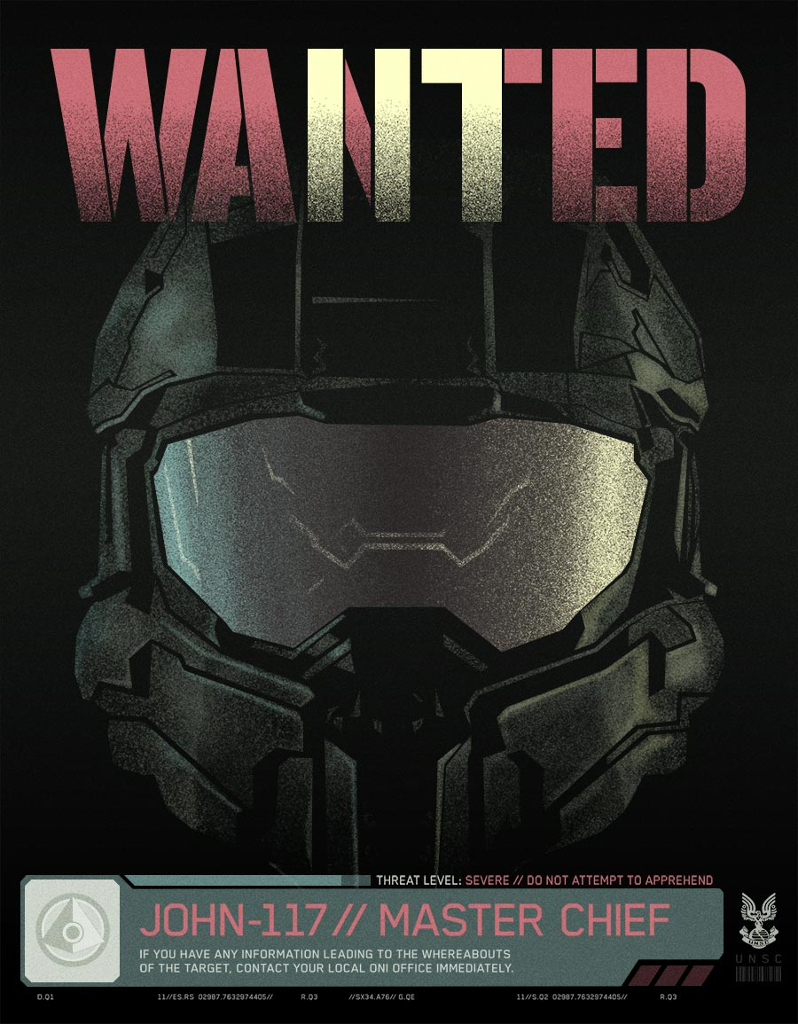 Halo 5 Wanted Poster