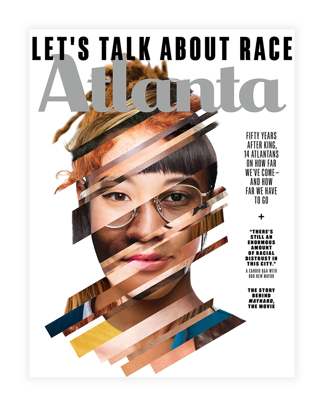 Cover for Atlanta Magazine — Let's Talk About Race