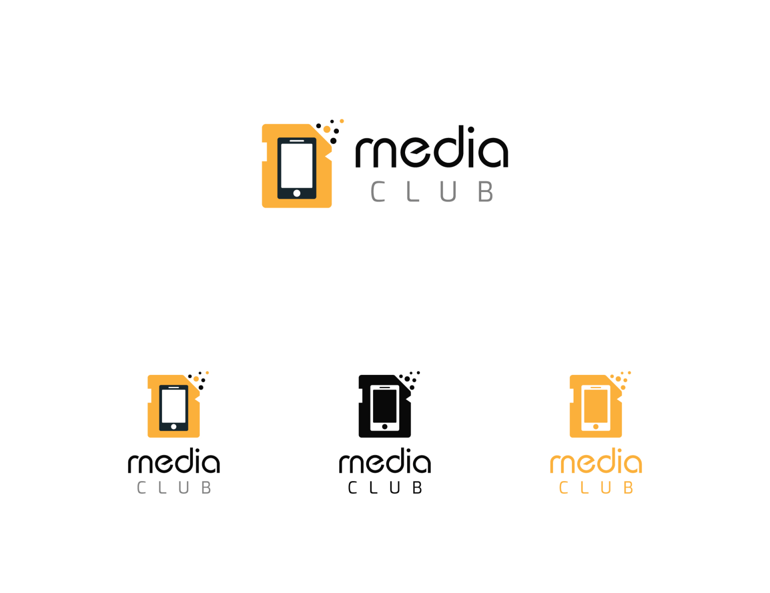 Media Club Logo and Business Card Design