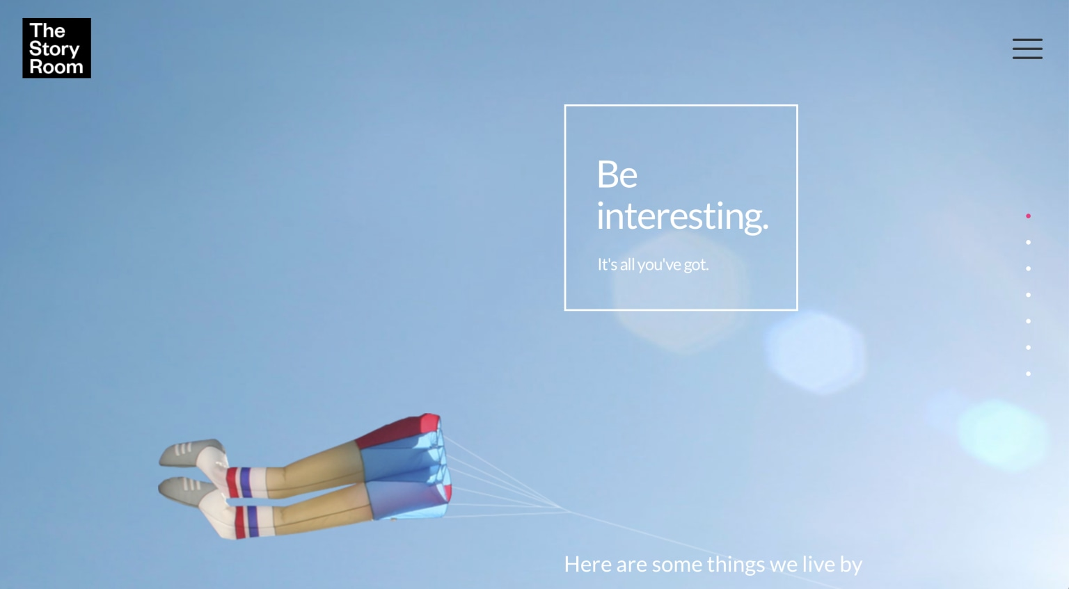 The Story Room Website Design: Conceptual, Copywriting, Front-end Development & Photography