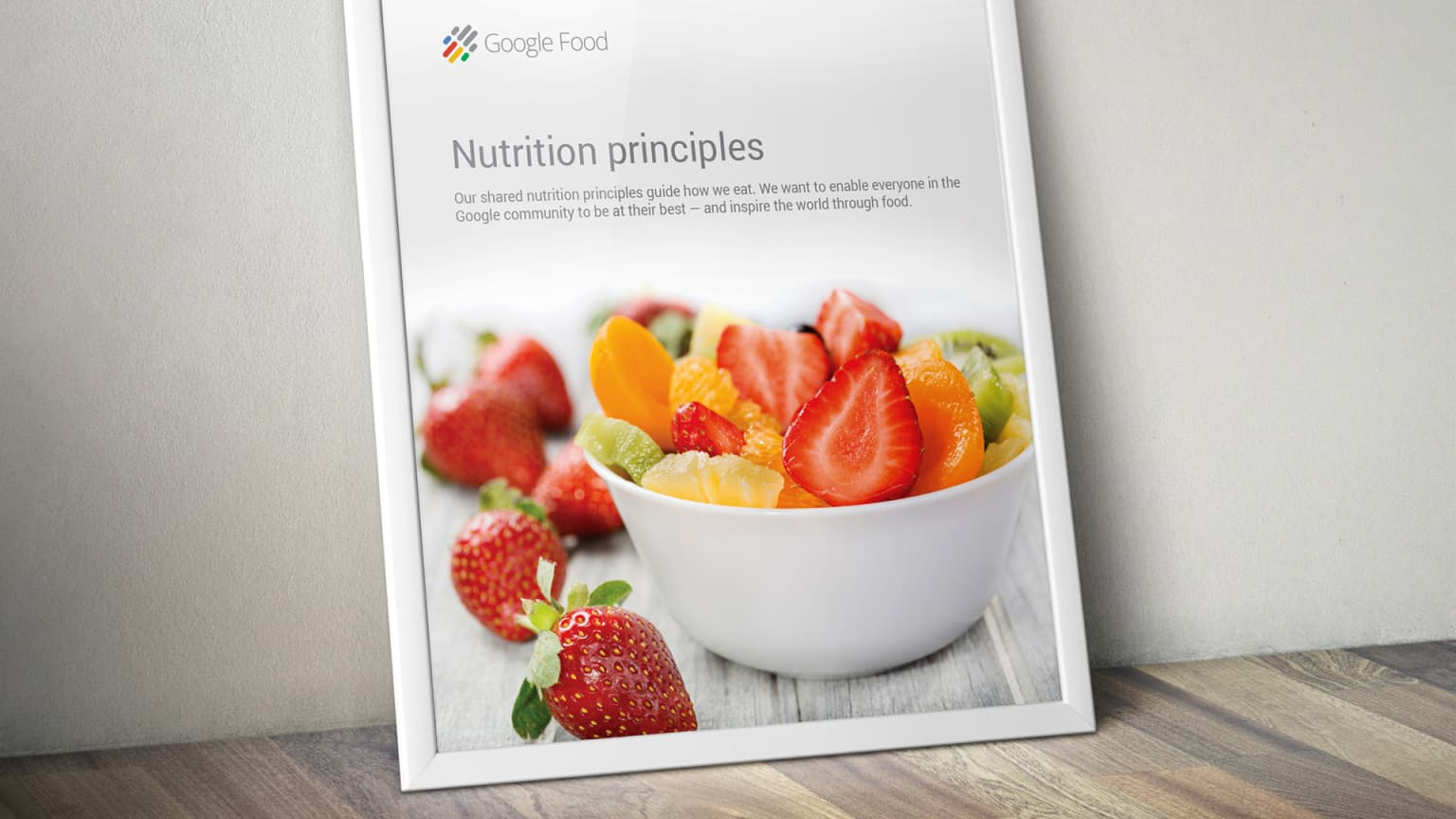 Google Food Print Design