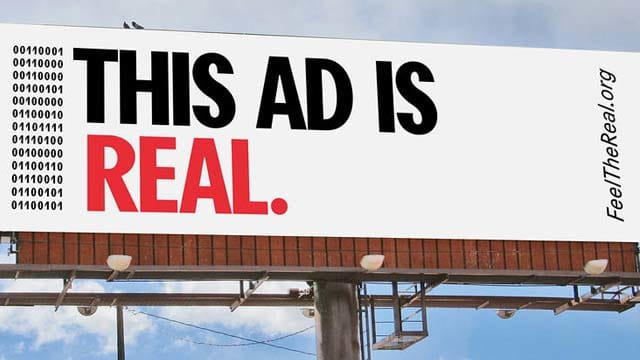 """OAAA """"Feel the Real"""" integrated ad campaign"""
