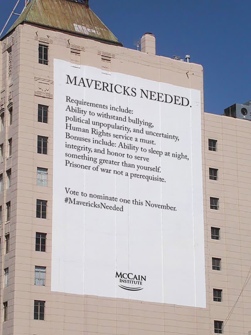 "McCain Institute ""Mavericks Needed"""