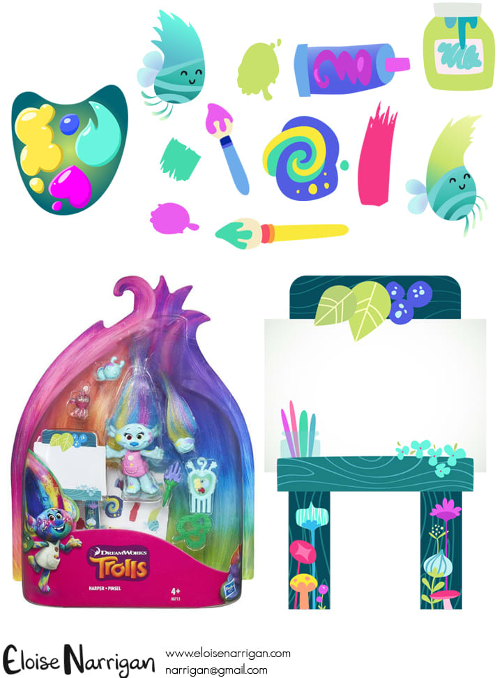 Trolls Illustrations (Stickers, Playset Graphics, Paper Accessories)