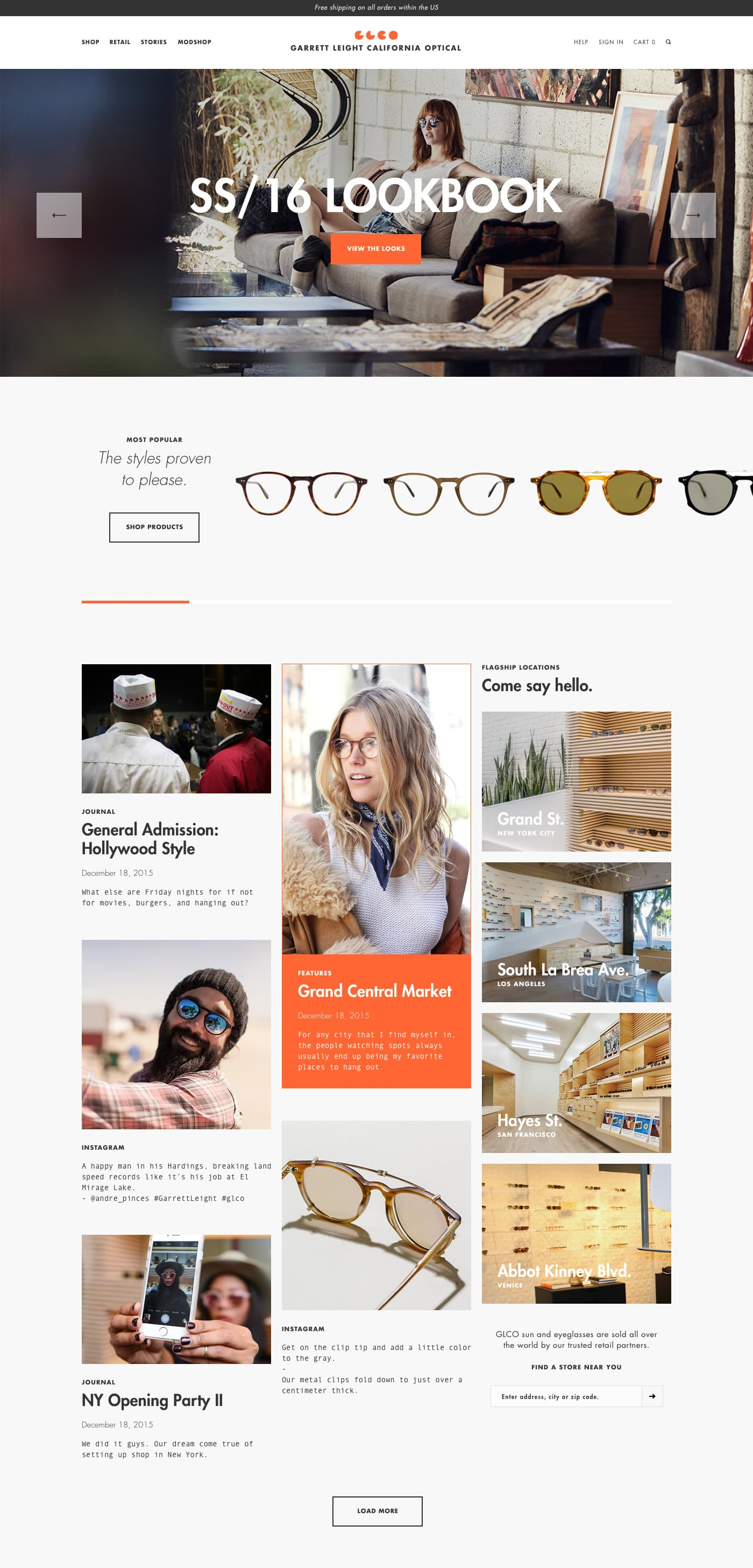 Garrett Leight: eCommerce and Creative Campaigns