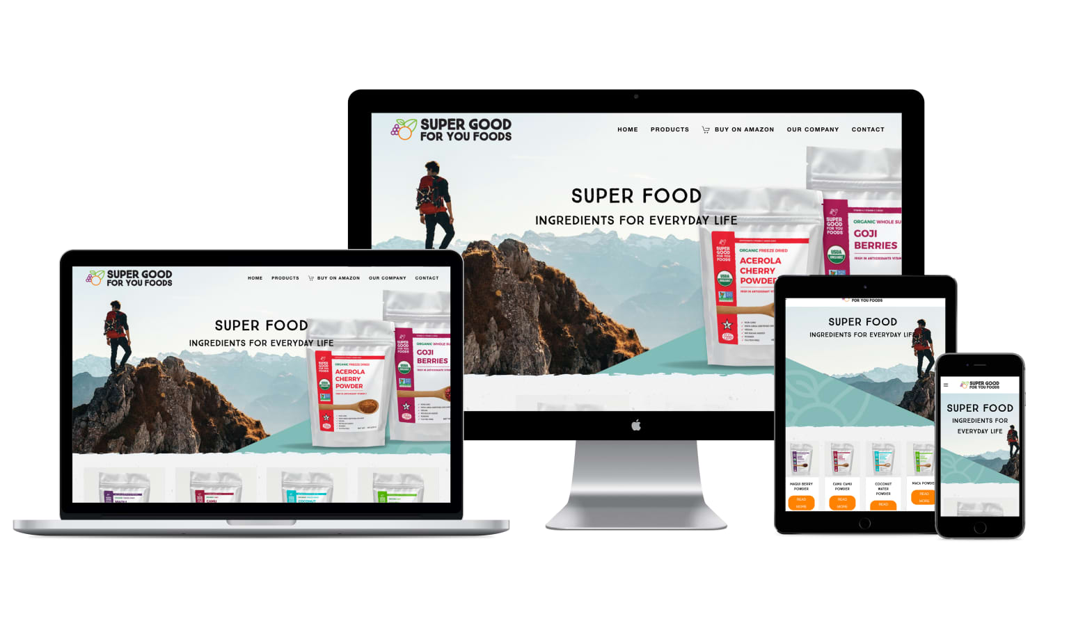Website Design & Digital Strategy for Super Good For You Foods