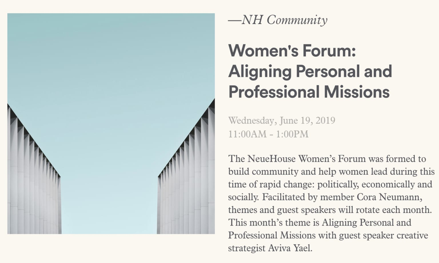Neuehouse Women's Forum