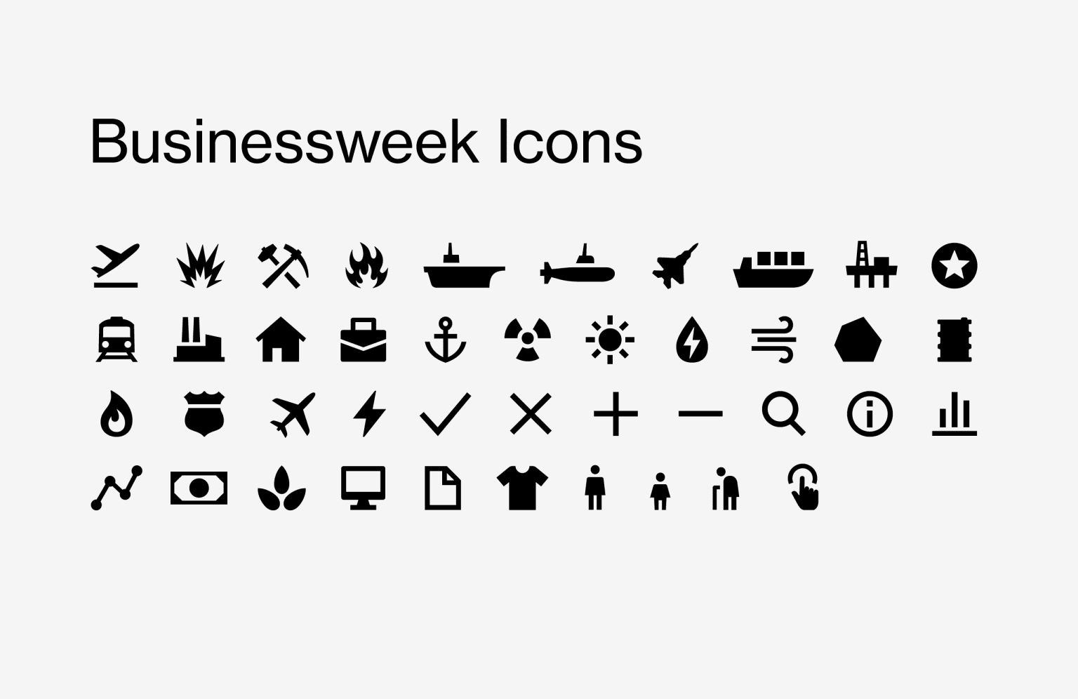 Business Week Icons
