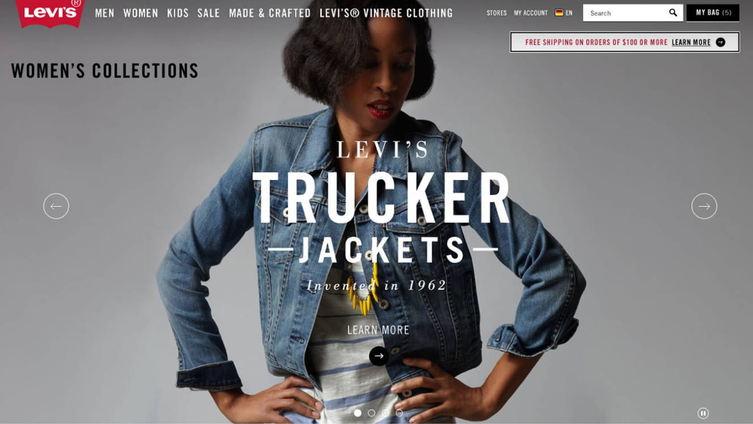 Levis Commerce Platform Design