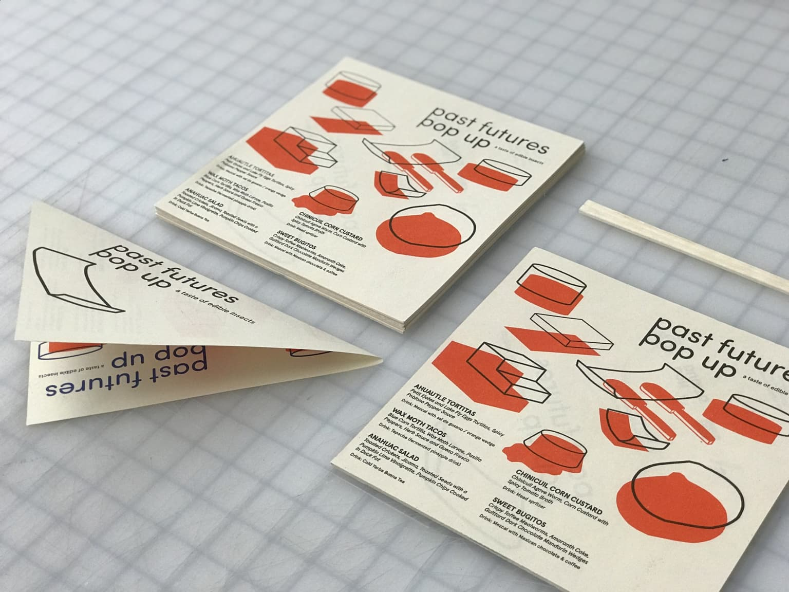 Past Futures / visual identity for an Edible Insect Dinner