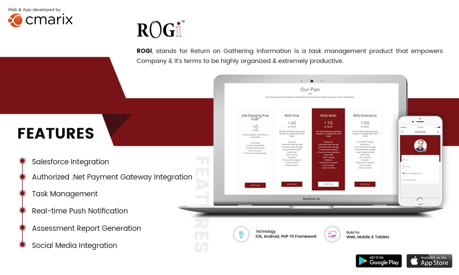 ROGi | Website & Mobile App (iPhone and Android) Project Management Tool