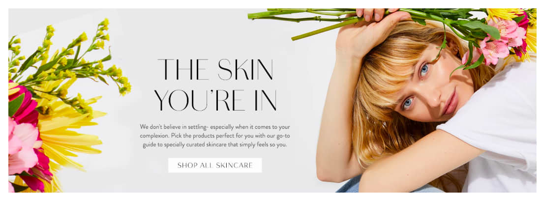 """Free People """"Shop by Skincare Type"""" Landing Page Experience"""