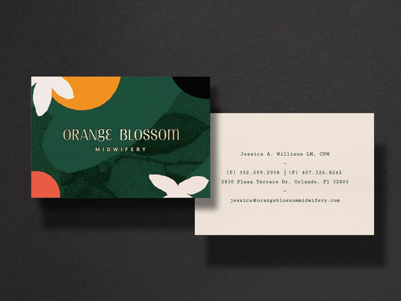 Orange Blossom Midwifery Branding