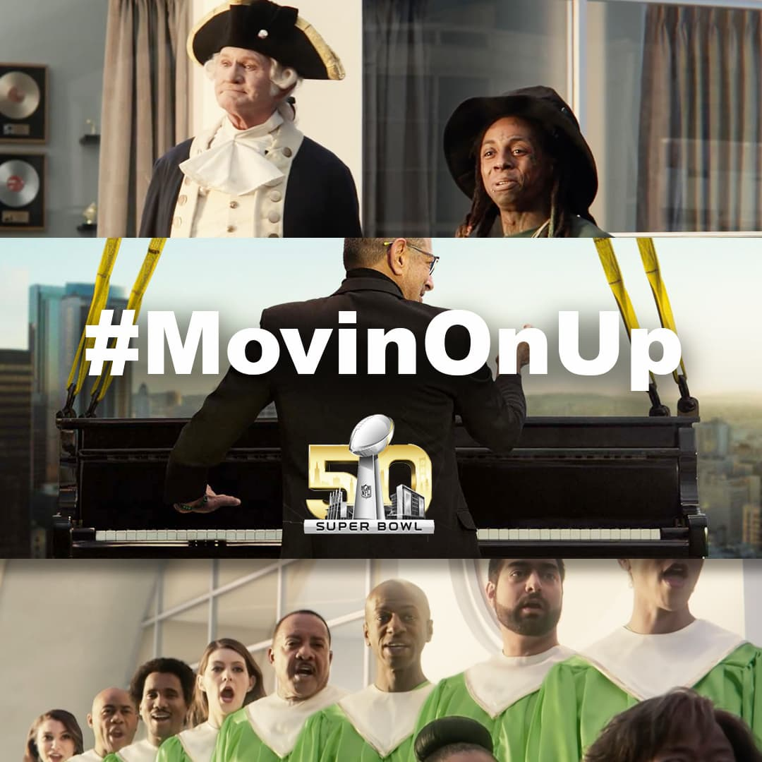 #MovinOnUp Super Bowl Campaign