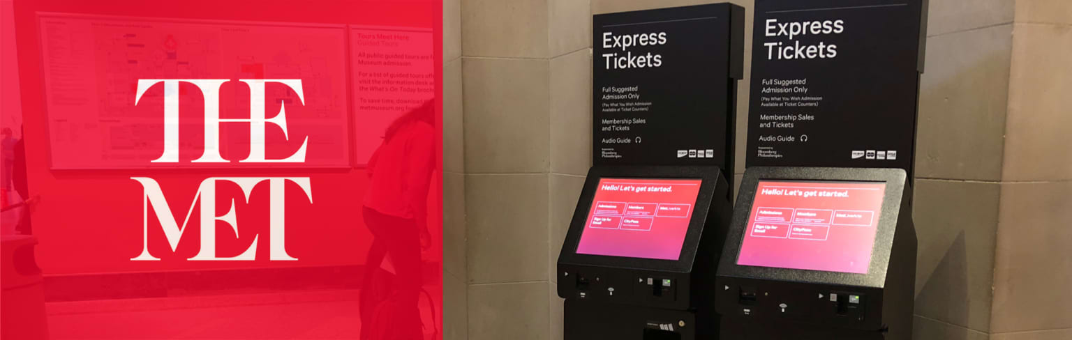 The Metropolitan Museum of Art — Redesign the ticket kiosk