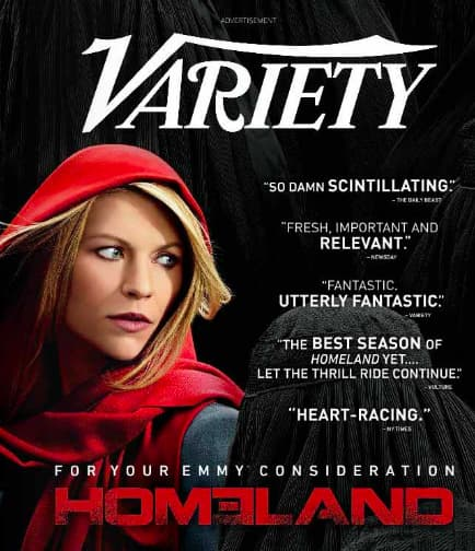 """Variety"" Print Advertisement for Homeland Television Show"